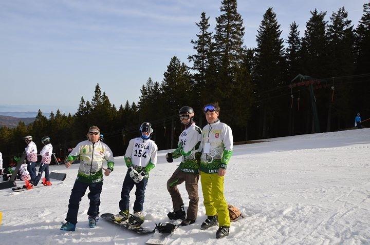 Lietuvos komanda pasaulio jaunimo snieglenčių čempionate